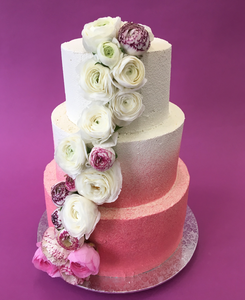 Wedding Cake rose dégradé
