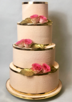 Wedding cake golden