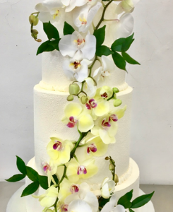 Wedding cake orchidées