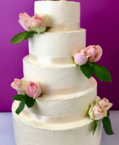 Wedding cake bouquet pastel