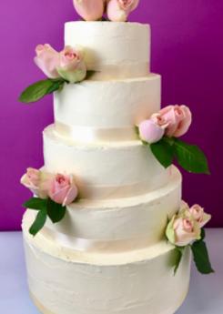 Wedding cake bouquet pastel