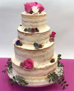 Naked cake bohème