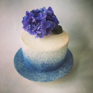 Gâteau anniversaire hortensia