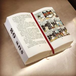 Gâteau anniversaire livre