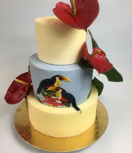 Gâteau anniversaire tropical